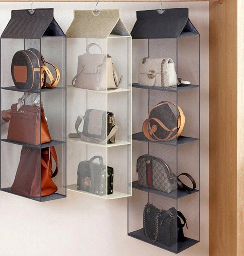 Hanging Organizer Handbag Storage Clothing Rack Space safer image 0