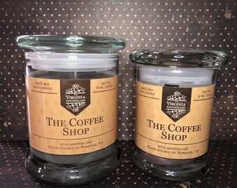 The Coffee Shop Soy Candle   Hand-Poured & Long-Burning   10% Fragrance