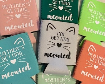 she/'s getting meowied getting meowied party favors for her kittens kitten party purrty cat wedding married Cat bachelorette cat lover