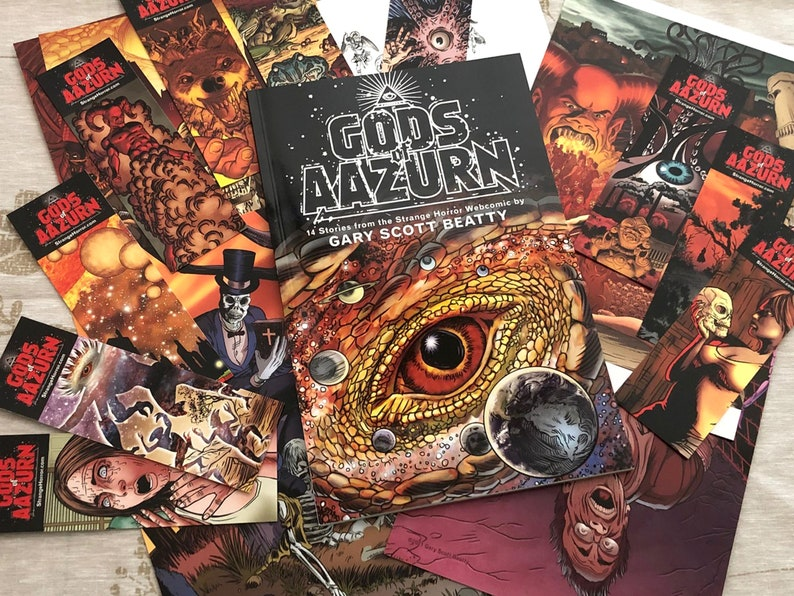 GODS OF AAZURN Lovecraft Style Horror Limited Edition image 0