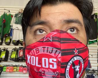 Xolos de Tijuana face mask handmade washable reusable mouth