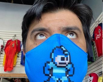 Mega Man  face mask handmade washable reusable mouth