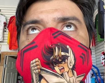 Caballero del Zodiaco  face mask handmade washable reusable mouth