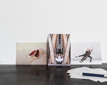 Ballerina - Classical dance photo postcard, greeting card, birthday card
