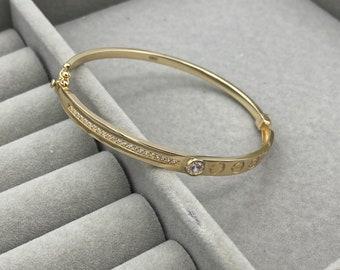 14k yellow Gold Bracelet and Labradorite AAA beadsNatural Stones BraceletPure Gold JewellryGold BraceletsGift for Men/'s and Women/'s