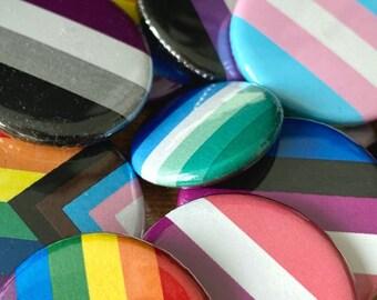 Pride Flag Pins bulk LGBT LGBTQ pride month lesbian gay bisexual trans pansexual asexual non-binary