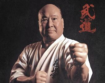 Mas Oyama Karate Kyokushin Poster | Japan Art Poster | Samurai Art
