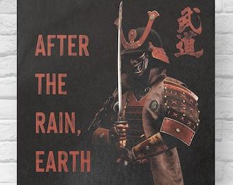 Samurai Poster | Japan Art Poster | Samurai Art | Japanese proverbs