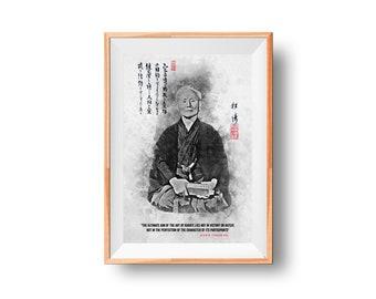 Gichin Funakoshi Poster - Shotokan