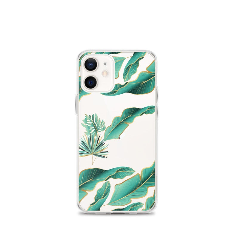 11 pro Aesthetic Tropical Green Leaves clear iPhone Cases xs max 10 se 2020 12