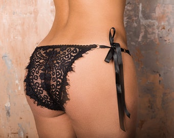 Ruched tie side knickers
