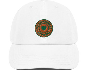 OT Captures the Heart Orange and Green Logo Champion Dad Cap