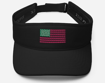 Land of the Ivy AKA Inspired Pink and Green Flag Embroidered 3D Puff  Visor