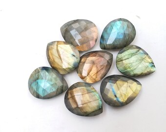 17 Carat Natural Blue White Rainbow Moonstone Cab Loose Gemstone,13x40 MM Size pear Rainbow Jewellry Making Stone