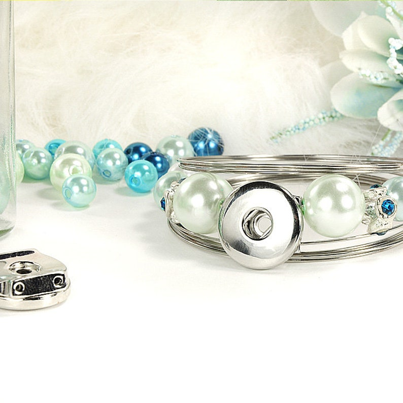 Snap slide base bottoms with thread holes for snap buttons create snap-click snap button change jewelry 18 mm