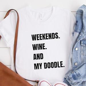 DOODLE MOM Sweatshirt Doodle Dog Mom Gift Weekends Coffee and my Doodle Dog lover Crop Hoodie Doodle Mama