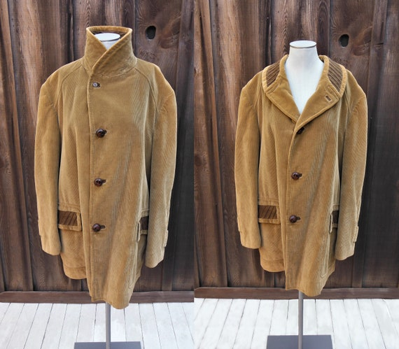 Size 46/XL Vintage 70s Cortefiel Men's Light Brown