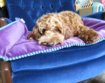 Medium padded blanket or sofa topper for home, travel or your lap!
