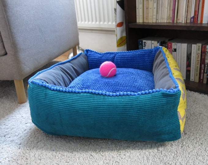 Small square bed.