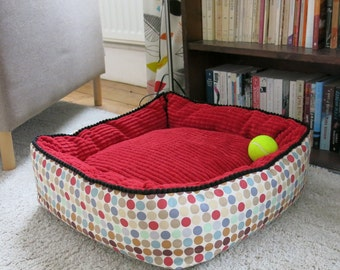 Small square pet bed