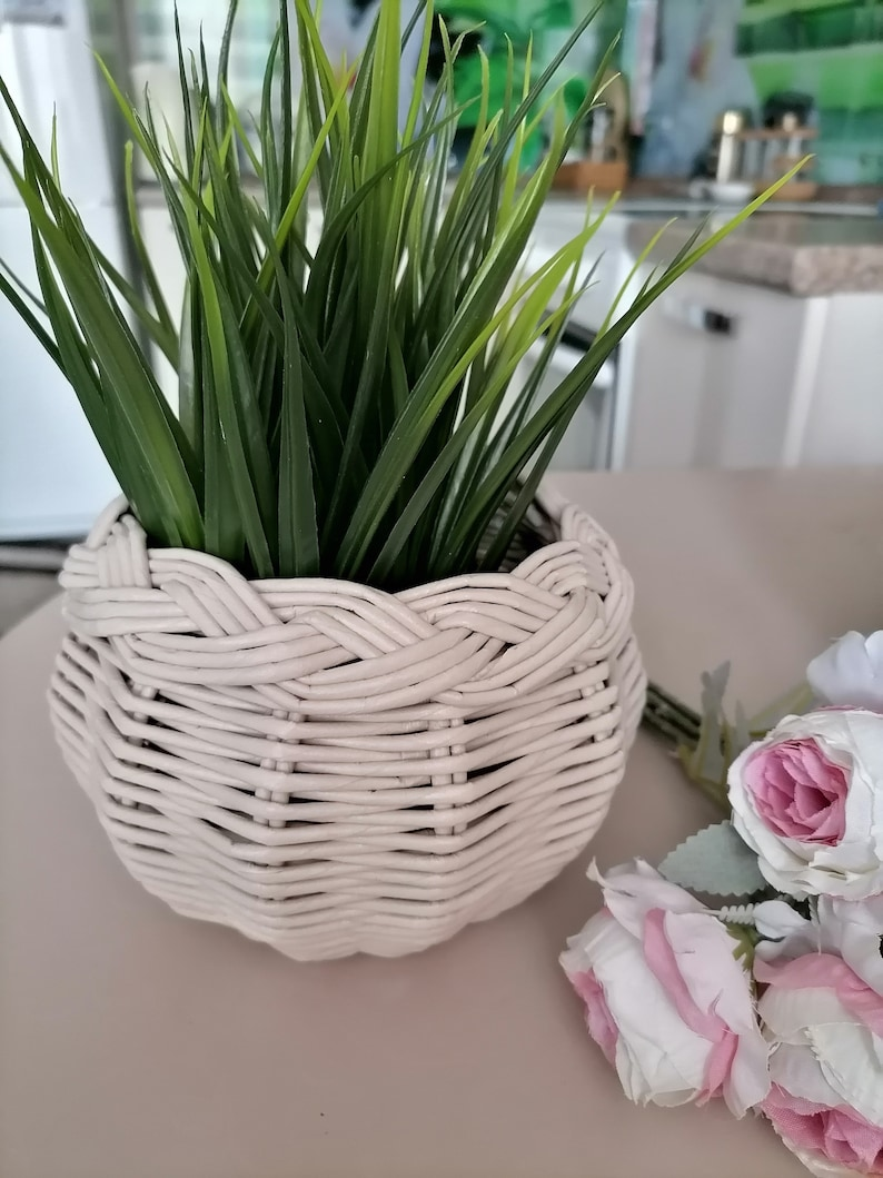Eco friendly gift two baskets-New spring outfit-College room decor-Spring welcome sign-Two unique planters-Beauty room decor-Pink room decor