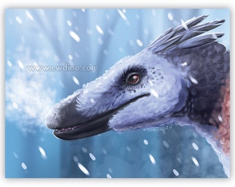 Dromaeosauridae Canvas / Forex A3 cm