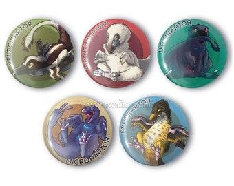 Baby Raptors 38 mm buttons