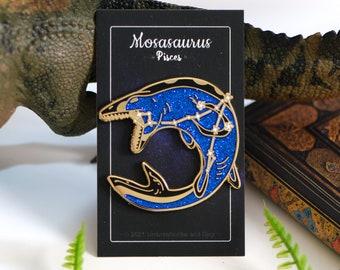 Dinosaur Constellation Pins - Mosasaurus Pisces