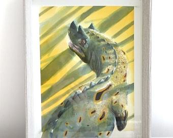 Original Art - Ceratosaurus at sunset