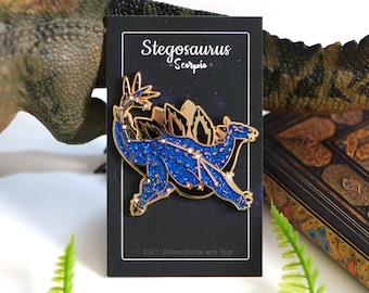 Dinosaur Constellation Pins - Stegosaurus Scorpio
