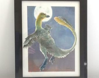 Original Art - Moon Velociraptor