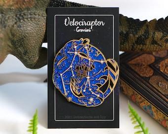 Dinosaur Constellation Pins - Velociraptor Gemini