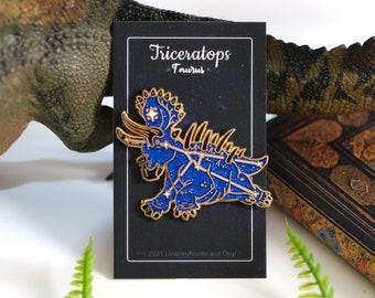 Dinosaur Constellation Pins - Triceratops Taurus