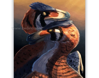 Love Velociraptor Canvas / Forex A3 cm