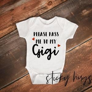Nana/'s little Sweetie-Baby Girl Bodysuit-Baby Clothes-Custom Bodysuit-Grandparents-GiGi-Nonny-Mimi-Grammy-PaPa-Grandpas-Little Sweetie