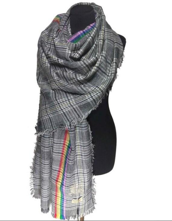 Vintage / Burberry/Scarf/Check /Wool/Silk /