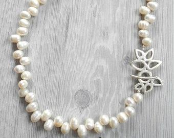 Handmade white culture designer necklace