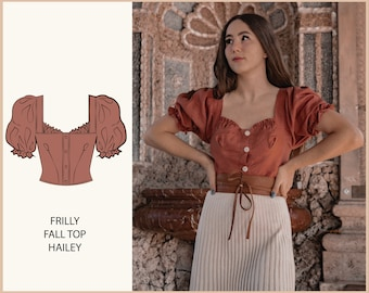 PATTERN - Frilly Fall Top HAILEY - THISISKACHI