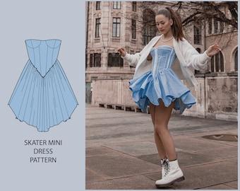 PATTERN - Skater Mini Dress - THISISKACHI