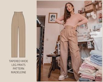 PATTERN - Tapered Wide Leg Pants MADELEINE - THISISKACHI
