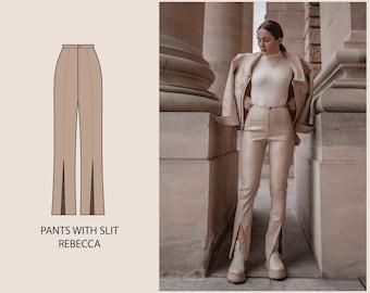 PATTERN - Pants with Slit REBECCA - THISISKACHI