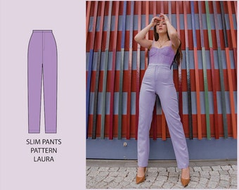PATTERN - Slim Fitted Pants LAURA - THISISKACHI