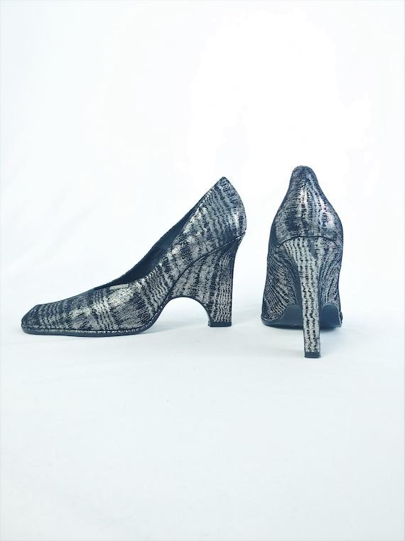 38.5 Handmade Square Toe Heels | New Vintage Itali