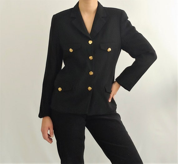 Vintage Black Jacket with Gold buttons | Classic F