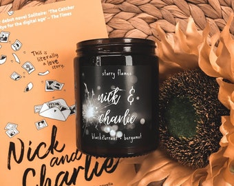 Nick & Charlie - Heartstopper inspired Bookish Candle