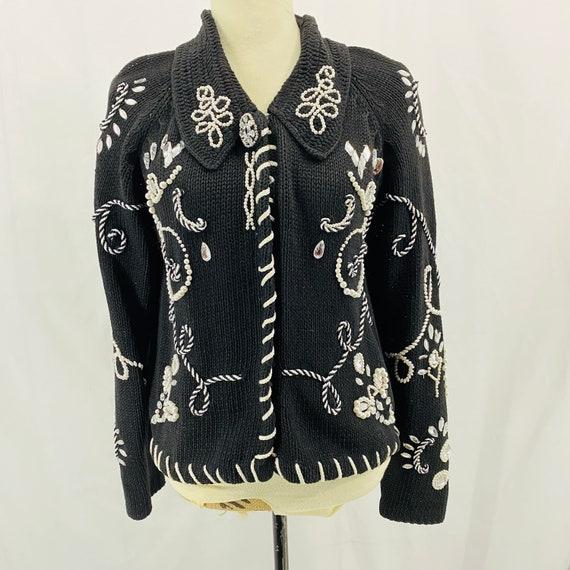 Vintage Cristina Beaded Embellished Cardigan