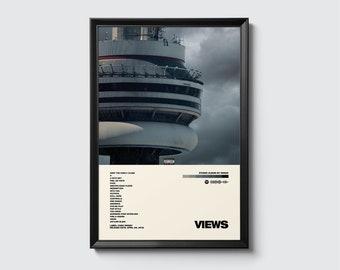 Music Poster Drake Decor Drake Premium Matte Horizontal Poster Drake Wall Art Drake Gifts Drake Views Drake Poster Print