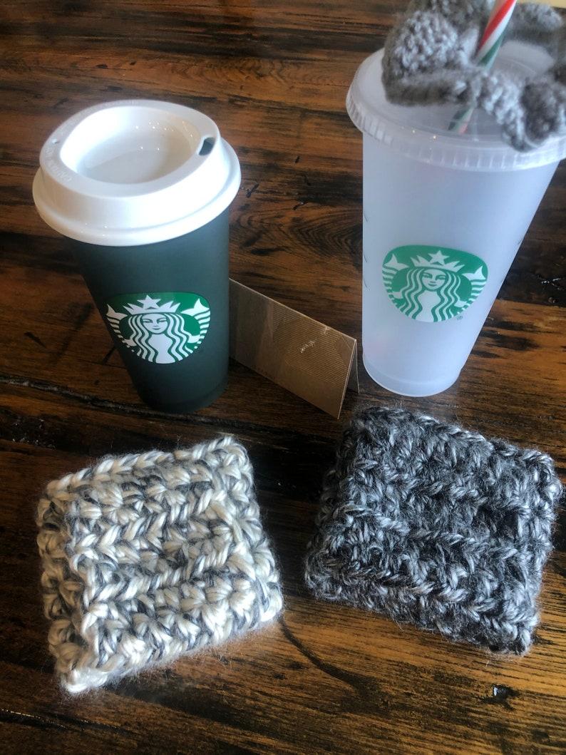 Crochet Coffee Cozy thick sweater coffee cozy Coffee sleeve image 0