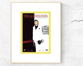 Viva la Revolution - Street Art Urban Art Graffiti Posterprint in DIN A3