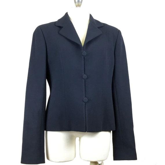 Emporio Armani Vintage 1990s Women's Wool Blazer N